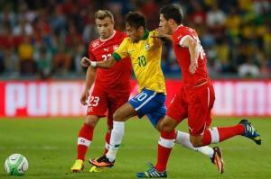 Neymar Shaqiri joueurs football suisse brésil